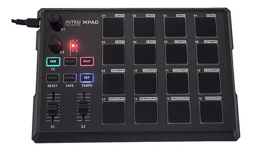 amw xpad controlador midi dj 16 pads similar mpd knobs fader