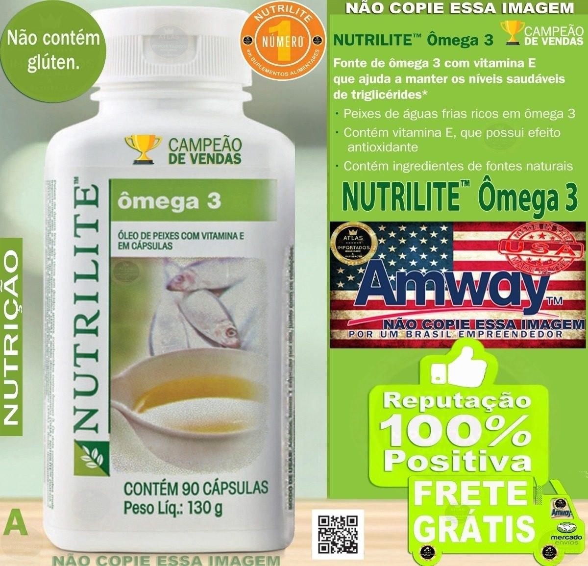 ff476608c amway omega 3 oleo de peixe c  vit. e nutrilite. Carregando zoom.