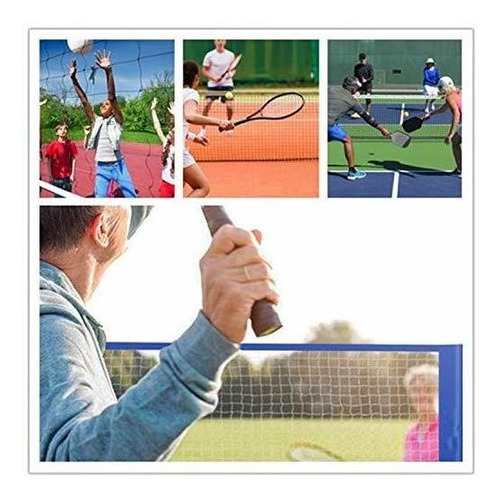 amzdeal badminton net - red