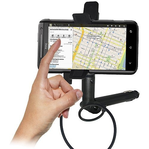 amzer amz94186 lighter socket phone mount with charging an