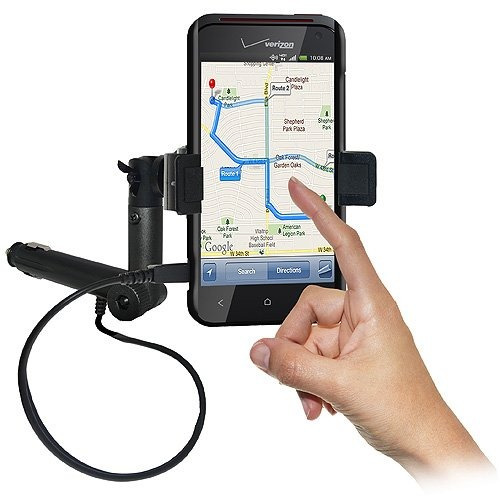 amzer amz94269 lighter socket phone mount with charging