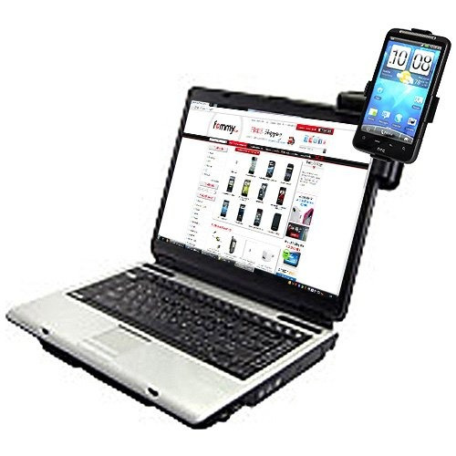 amzer laptop mobile connect with custom holder htc inspir