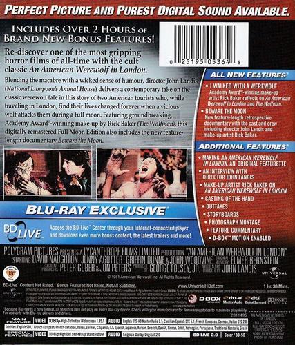an american werewolf in london pelicula importada blu-ray