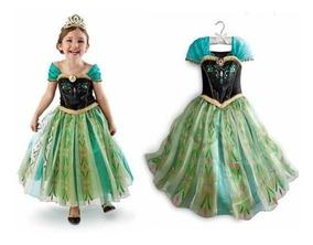 Ana Anna Frozen Disfraz Elsa Vestido Princesa Disney Nina