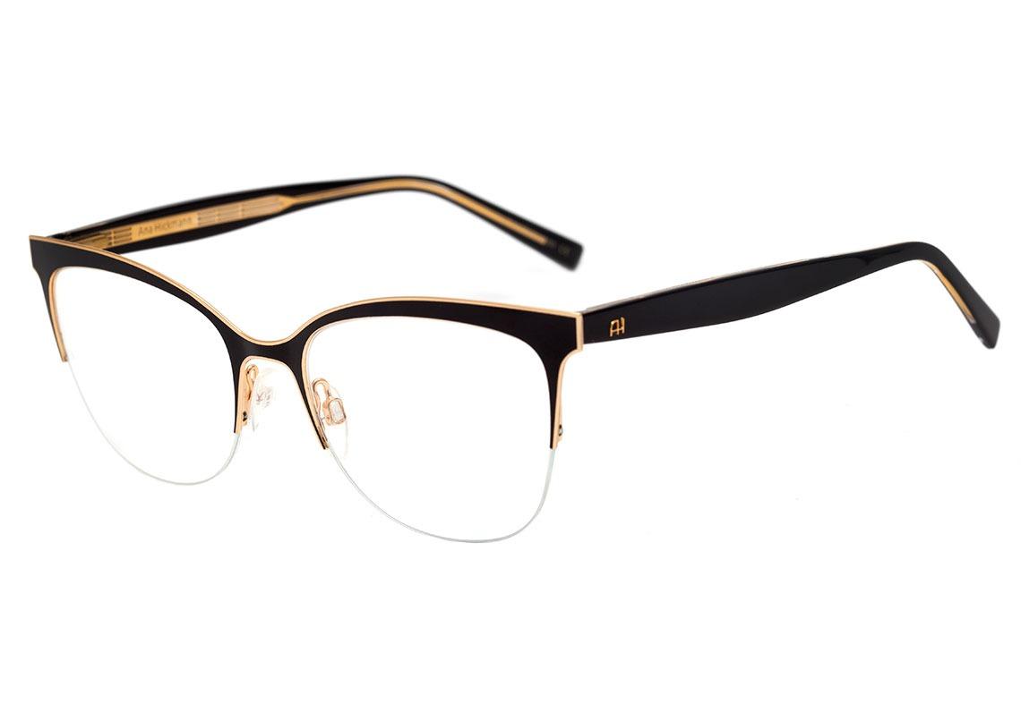 75261feb7dc3c ana hickmann ah 1347 - óculos de grau 09a preto e dourado. Carregando zoom.