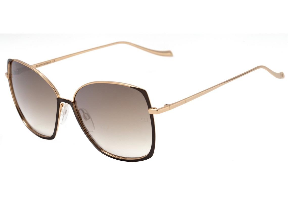fb82cad0bcdbf ana hickmann ah 3155 - óculos de sol 01a marrom e dourado. Carregando zoom.
