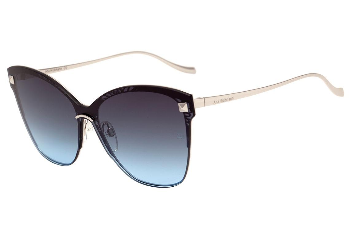 3f7860fb84ec8 ana hickmann ah 3169 - óculos de sol 03a prata brilho  azul. Carregando  zoom.