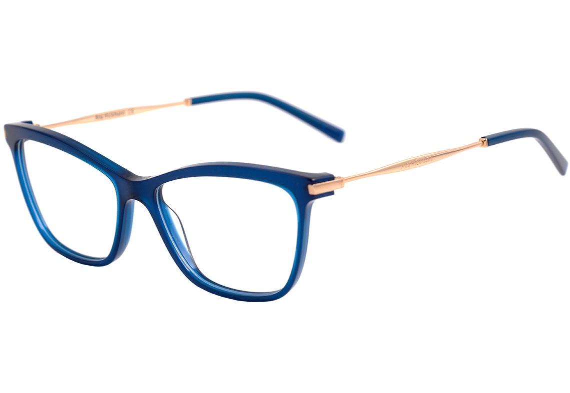 61f2271db60c6 Ana Hickmann Ah 6254 - Óculos De Grau T01s Azul E Dourado - R  364 ...