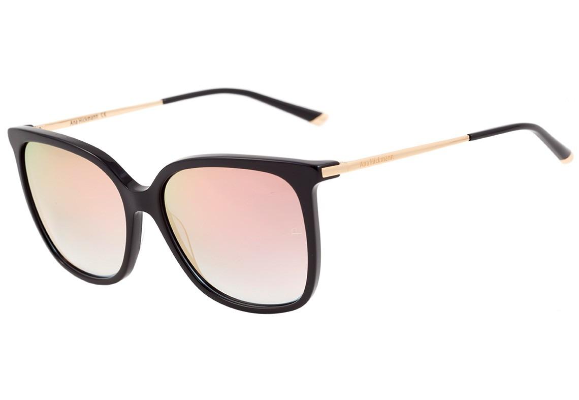 cbdf4f026 ana hickmann ah 9235 - óculos de sol a01 preto e dourado. Carregando zoom.