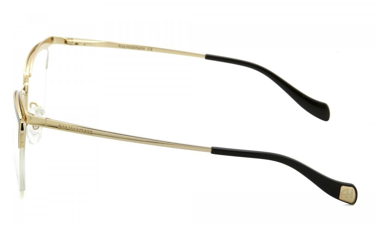 c90168174a7a1 Armação Óculos De Grau Ana Hickmann Feminino Ah1357 01a - R  427