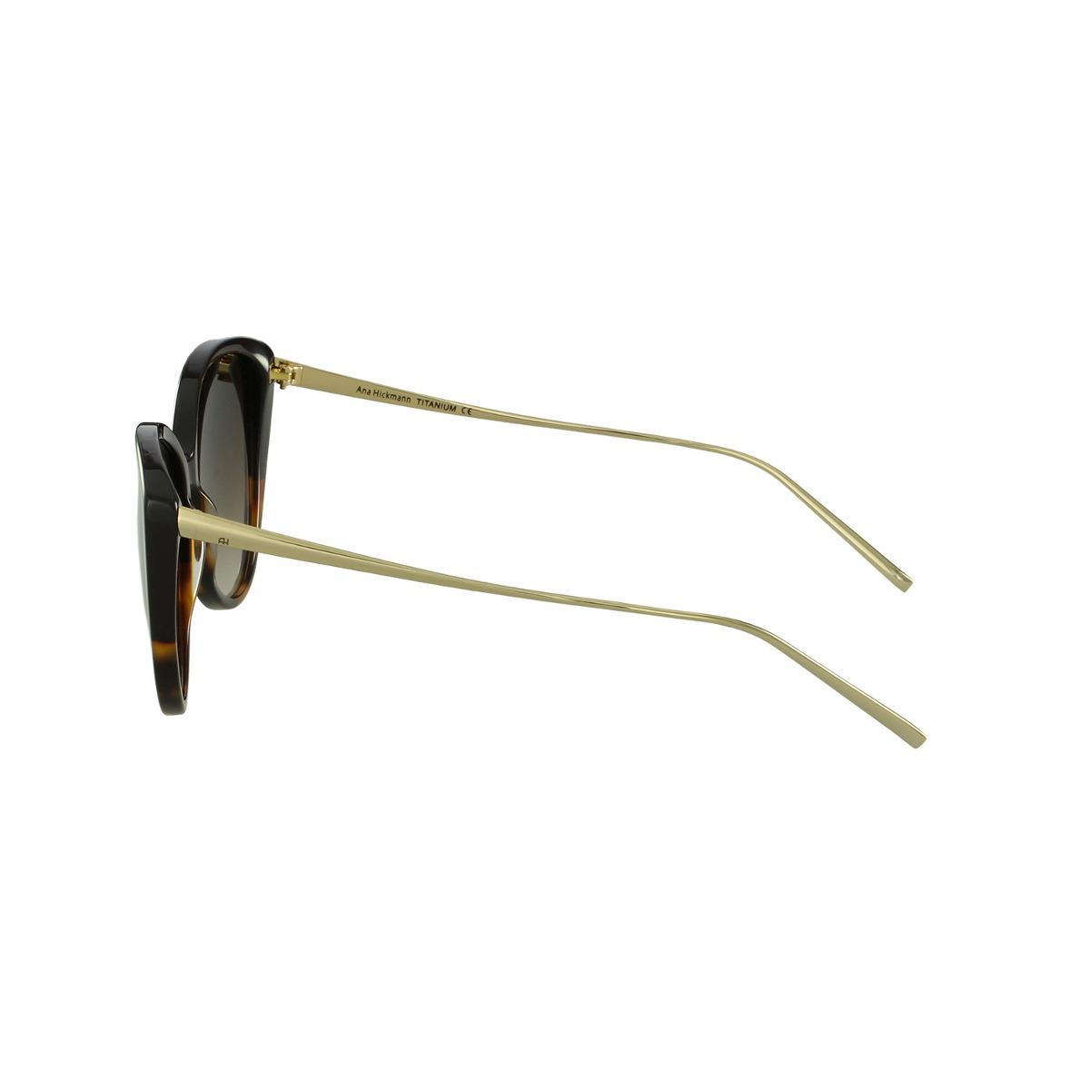 46096c4de26a5 Óculos De Sol Ana Hickmann Gatinho Marrom - R  444