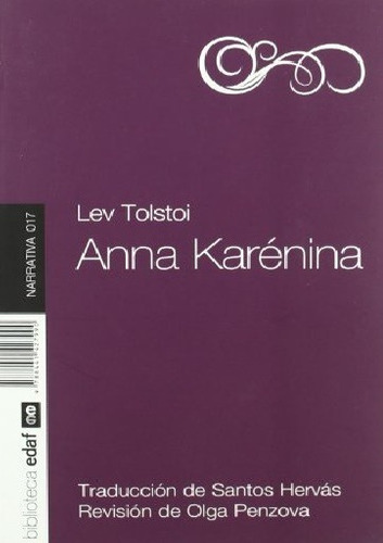 ana karenina - león tolstói - editorial edaf