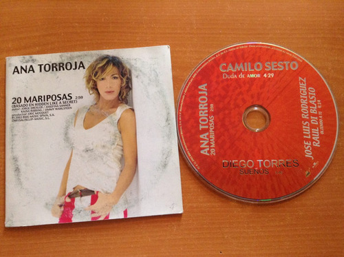 ana torroja 20 mariposas cd promo