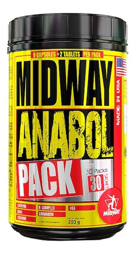 anabol pack midway 30 saches + luva