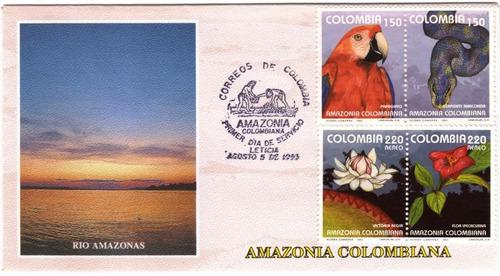 anaconda papagayo sobre primer día 1993 amazonía colombiana