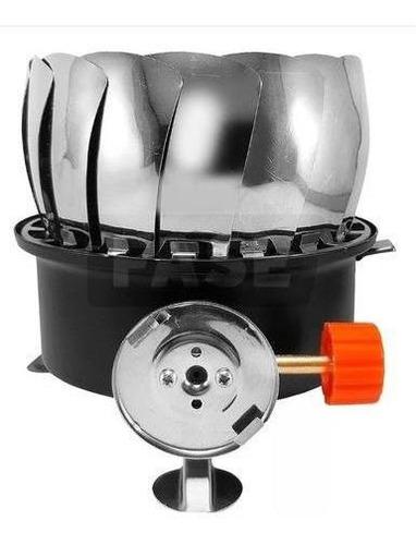 anafe calentador portatil plegable gas butano +bolso kushiro
