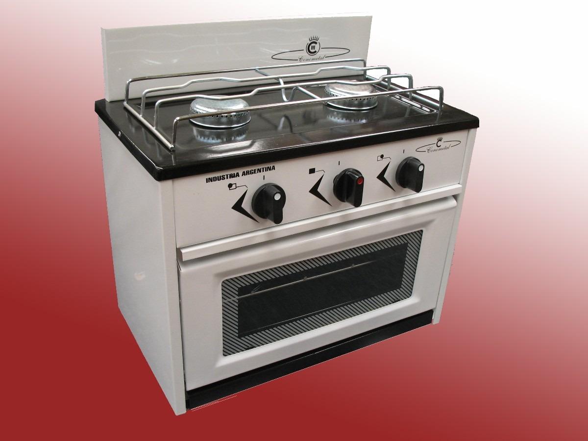 Cocinas De Gas Pequenas.Anafe Cocina 2 Hornallas Con Horno Frente Vidrio Gas Natural