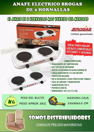 anafe electrico 2 hornallas bajo consumo 2000w cocina oferta