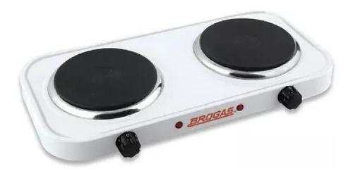 anafe electrico 2 hornallas brogas 2000 watts bajo consumo
