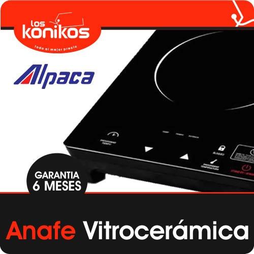 anafe eléctrico alpaca vitroceramico 1 hornalla 2000w gtia