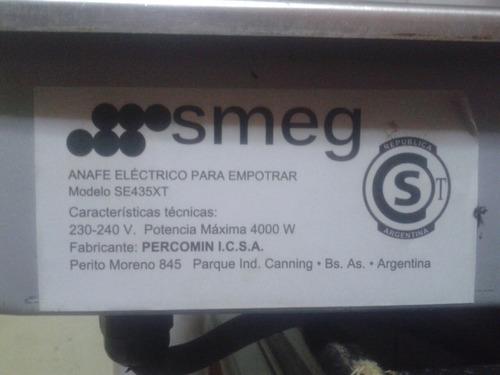 anafe eléctrico de empotrar smeg