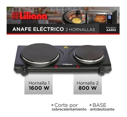 anafe eléctrico liliana aa902 negro 220v oferta 6 cuotas !!