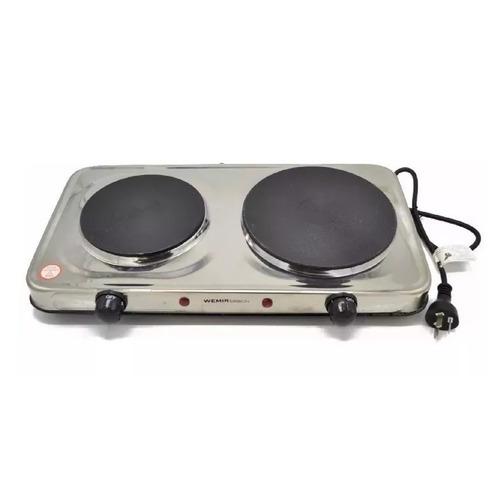 anafe electrico wemir 2 hornallas 2200 watts acero inox