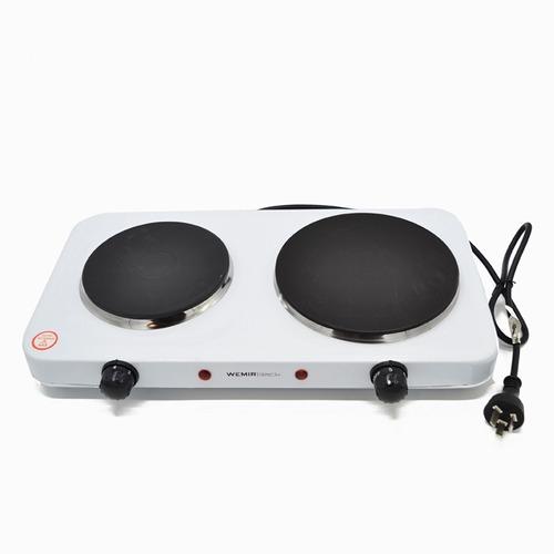 anafe electrico wemir 2 hornallas 2200 watts blanco
