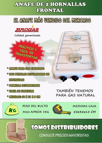 anafe frontal 2 hornallas brogas gas nat-env oficina camping
