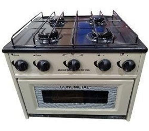 anafe gas conometal 4h con horno gas envasado-aj hogar