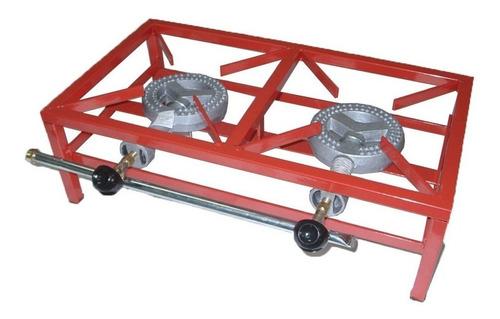 anafe industrial foco 2 hornallas 20000 cal/h caño rojo mm