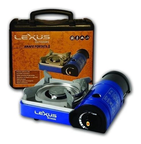 anafe lexus portátil y compacto a gas butano con maletin