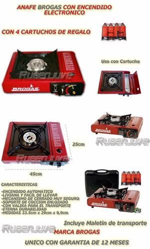 anafe portatil a cartucho + maletin y 4 cartuchos  regalo!!