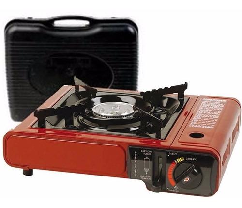anafe portatil camping brogas a gas butano + 4 cartuchos