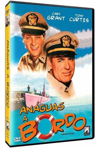 anáguas a bordo - dvd - cary grant - tony curtis - novo