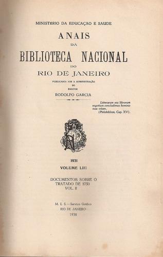 anais da biblioteca nacional do rio de janeiro volumen liii