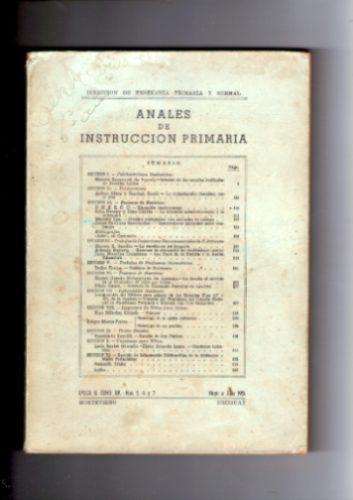 anales de instrucción primaria año 1951