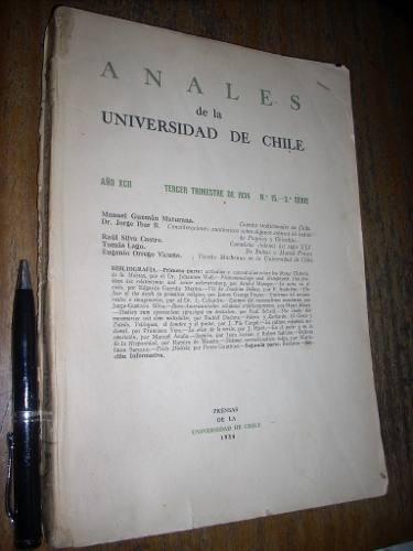 anales de la universidad de chile 1934 nº 15 ver detalle