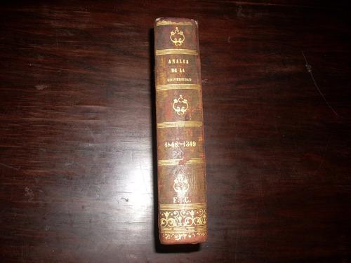 anales de la universidad de chile. años 1848 - 1849.