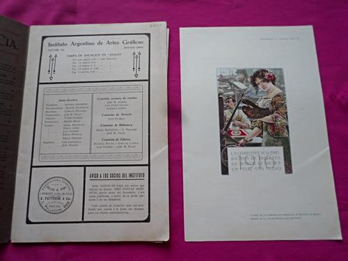 anales graficos n° 4 año 1918 imprenta antigua tipografia