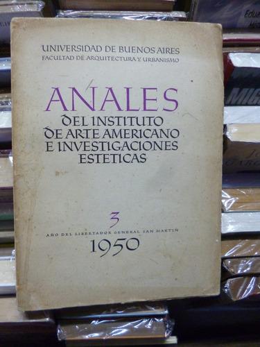 anales instituto arte americano e investig. estèticas nº 3
