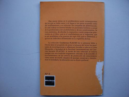 analfabetismo y analfabetos en argentina - cuadernos flacso