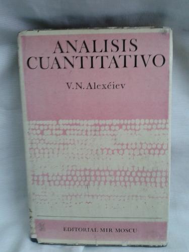análisis cuantitativo. v.n.alexéiev - mir moscu.