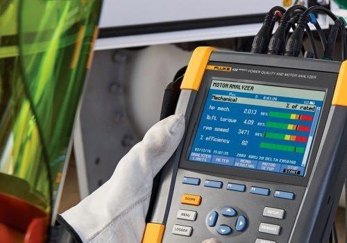 análisis de calidad de suministro de energía en la industria