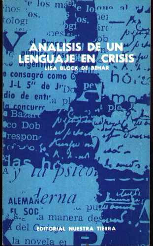 análisis de un lenguaje en crisis block de behar, lisa