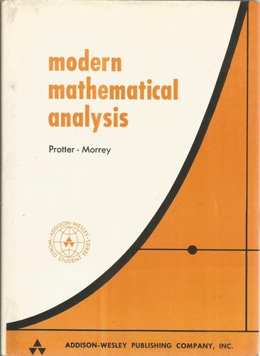 análisis matemático moderno. protter-morrey. en inglés.