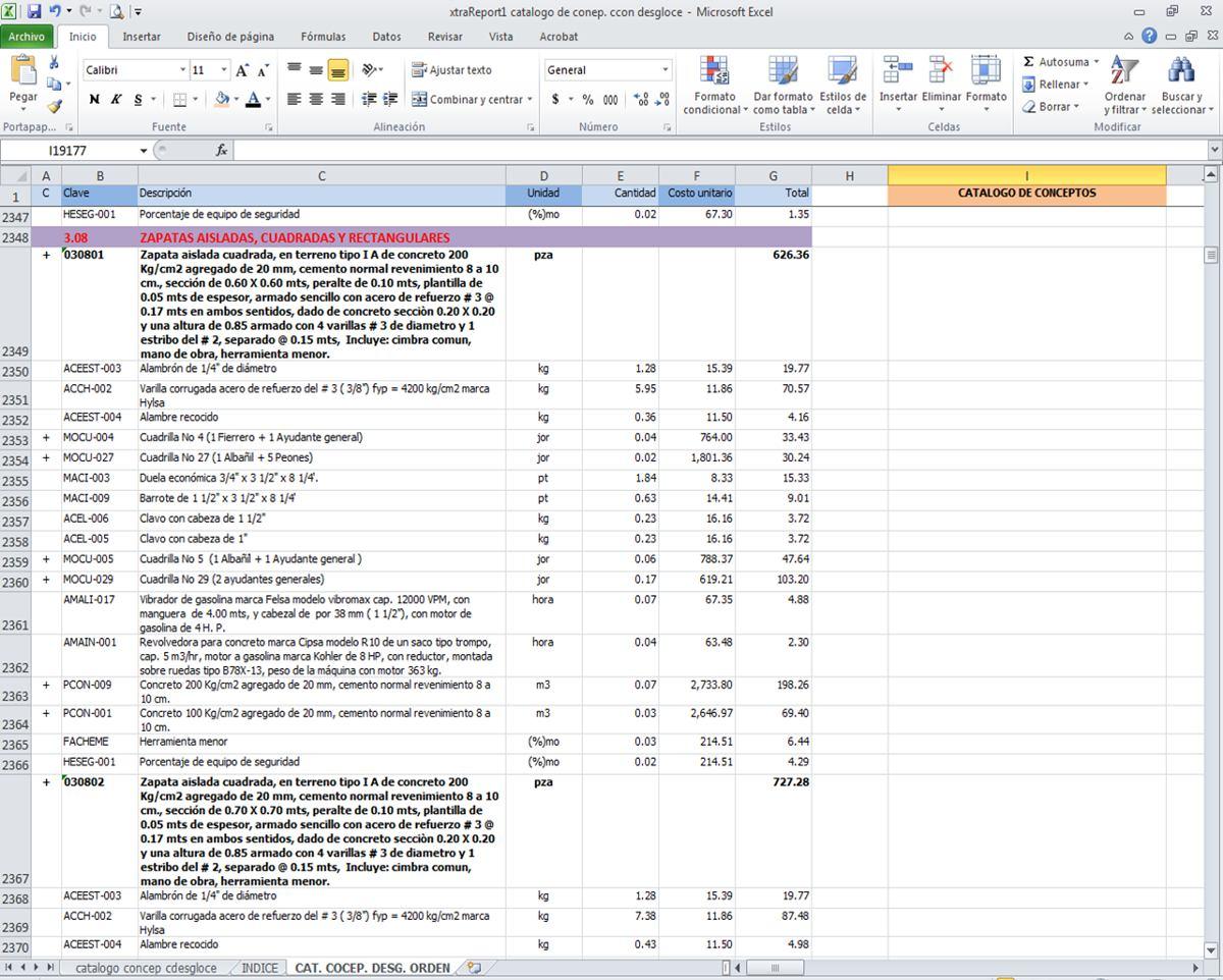 opus analisis de precios unitarios descargar gratis