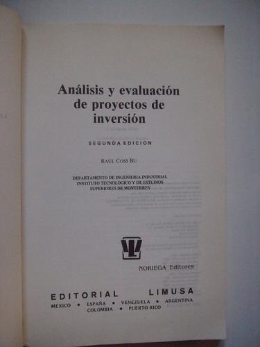 análisis y evaluación de proyectos de inversión - coss bu