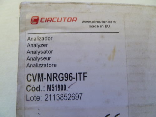 analizador electrico cvm nrg para montaje en panel de 96x96