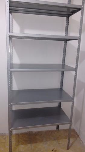 anaquel estante metalico 5 niveles, 60 x 85 cms. reforzado